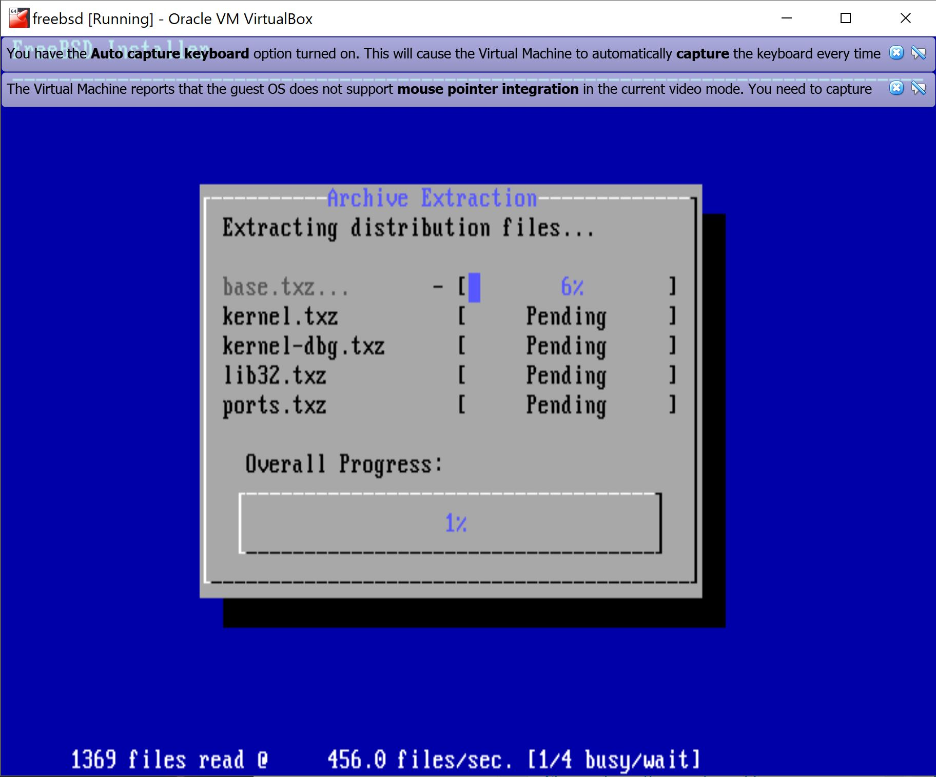 Windows 10, VirtualBox 5 2 0 w/ FreeBSD 12 0-CURRENT Guest